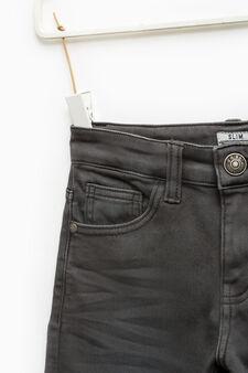 Jeans stretch effetto used, Grigio antracite, hi-res