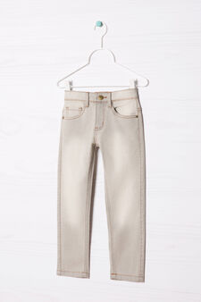 Slim-fit stretch jeans, Light Grey, hi-res