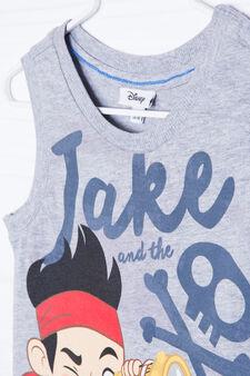 100% cotton T-shirt with Disney print, Grey Marl, hi-res