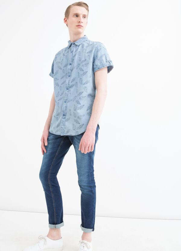 Camicia slim fit fantasia | OVS