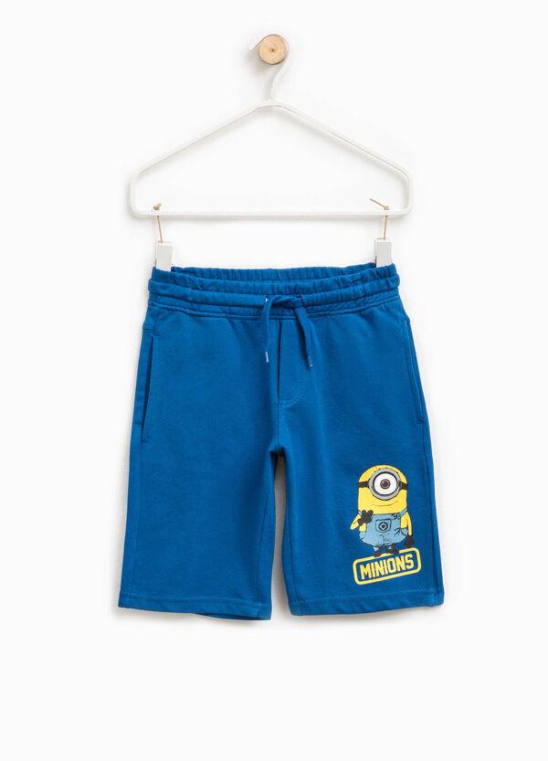 Cotton Bermuda shorts with Minions print | OVS