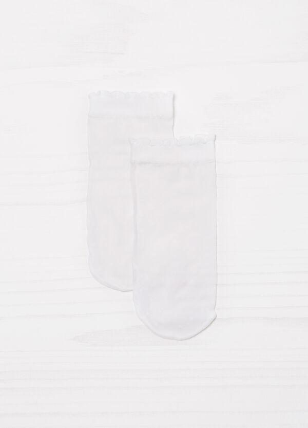 Solid colour short stretch pop socks   OVS