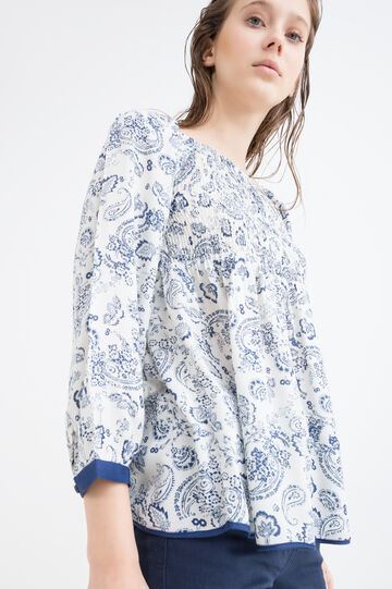 100% viscose printed blouse