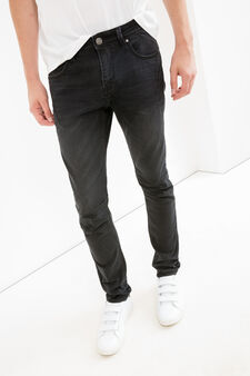 Jeans super skinny stretch used, Nero, hi-res