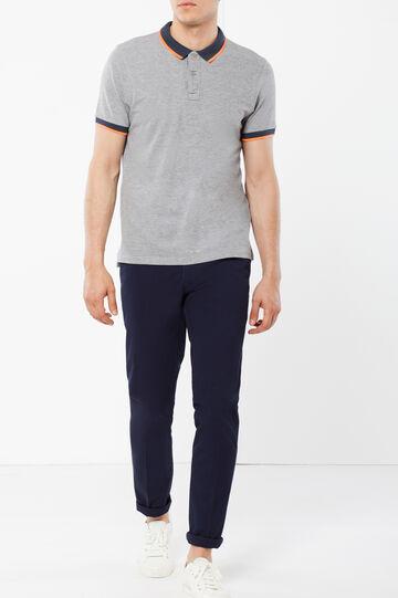 Solid color classic trousers, Dark Blue, hi-res