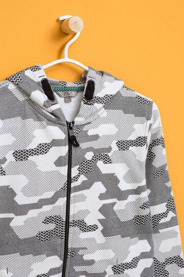Patterned sweatshirt hoodie