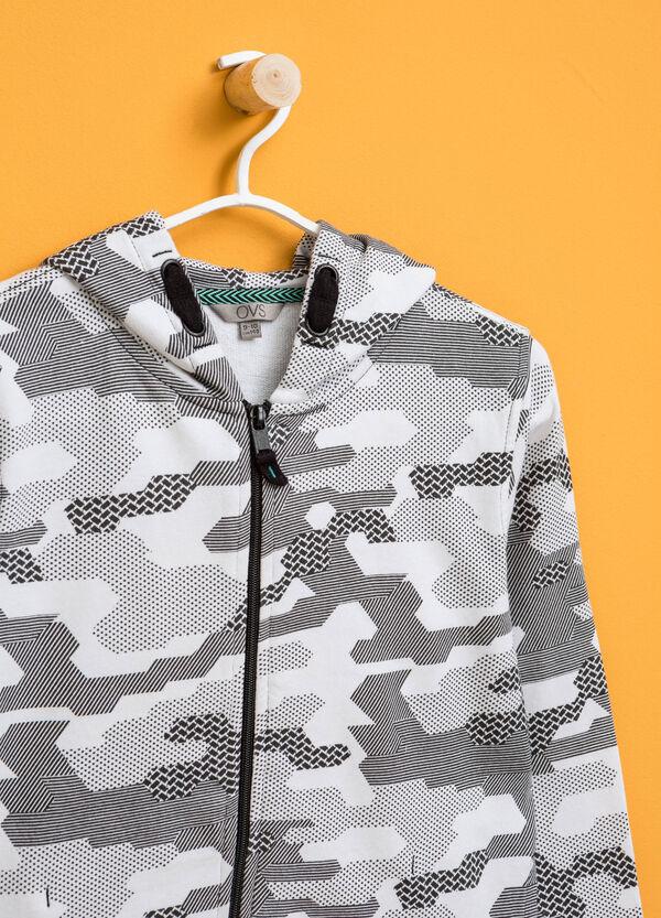 Patterned sweatshirt hoodie | OVS