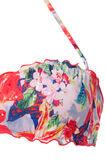 Floral stretch bandeau top, Orange, hi-res