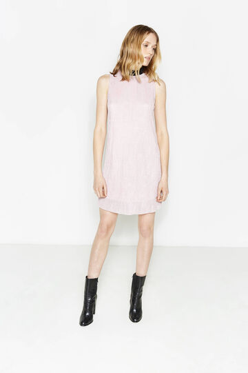 Sleeveless ribbed dress with lurex