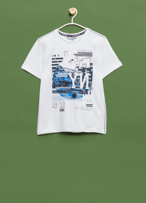 100% cotton T-shirt with contrasting print | OVS
