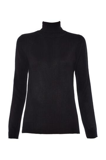 Smart Basic high neck pullover, Black, hi-res
