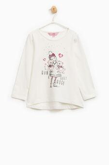 Maxi print T-shirt in 100% cotton, Milky White, hi-res