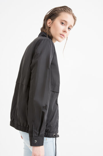 Drawstring jacket, Black, hi-res
