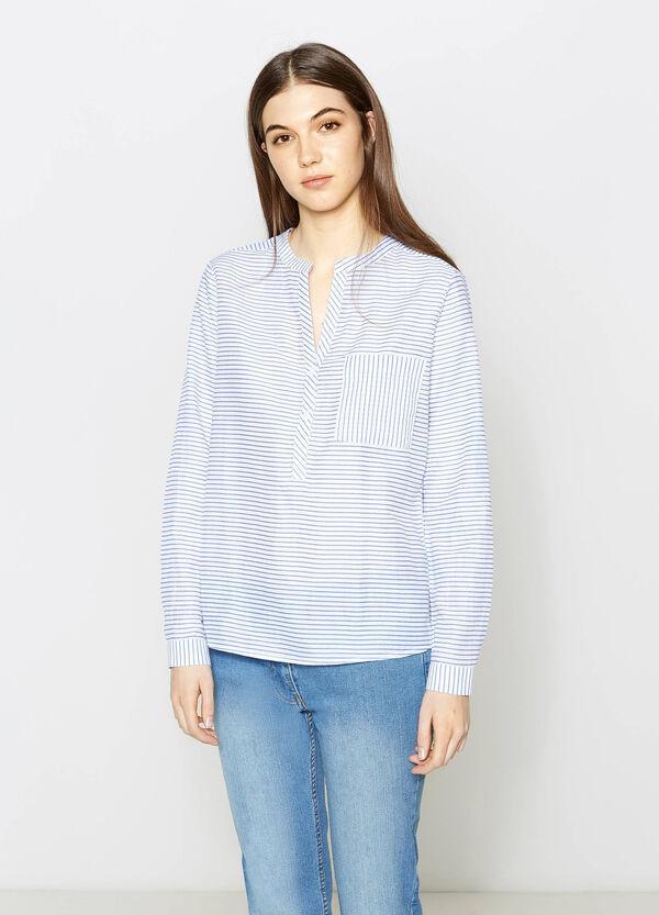 Blusa de rayas en algodón 100% | OVS