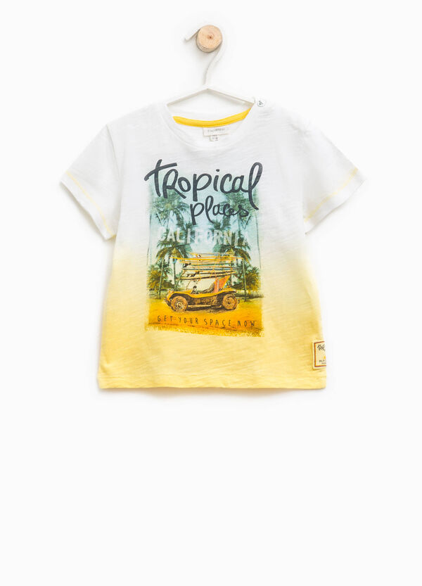 T-shirt degradé stampa e patch | OVS