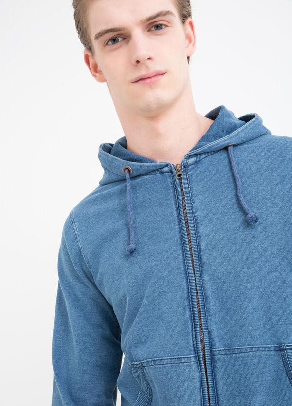 Stretch cotton hoodie | OVS