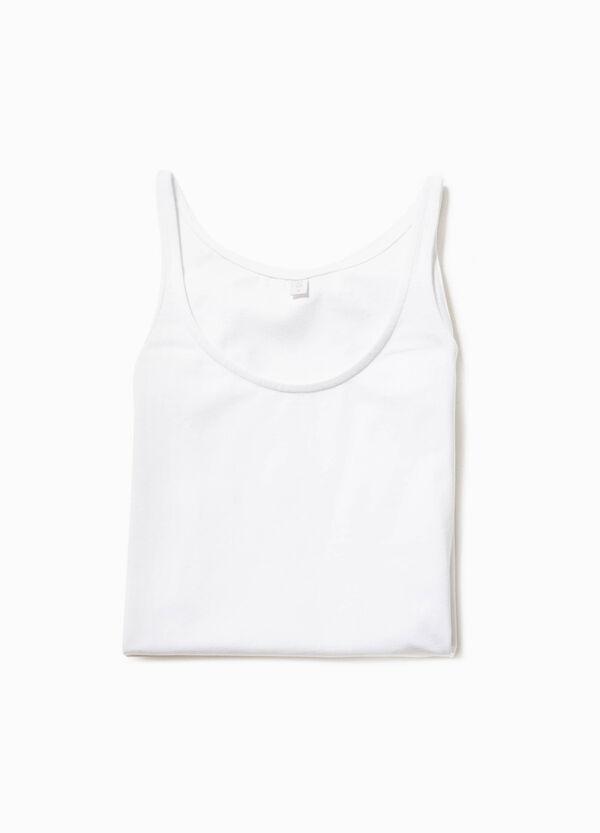 Solid colour stretch cotton under top | OVS