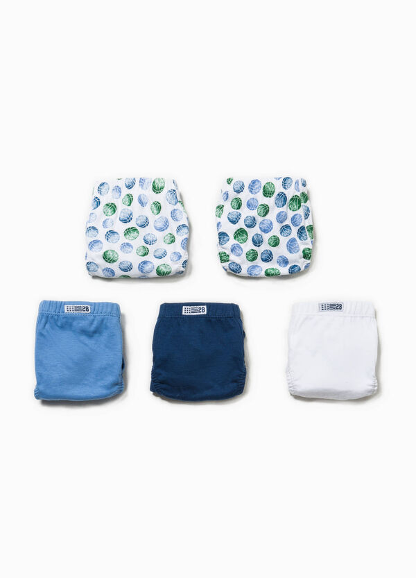 Five-pack briefs patterned and solid colour | OVS