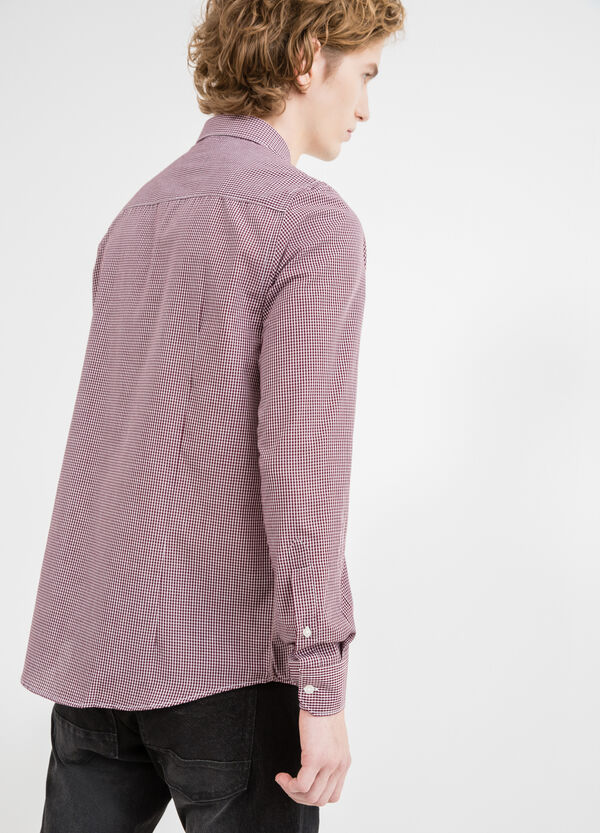 Slim-fit casual shirt with button down collar | OVS