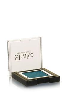 Compact eyeshadow with metal effect, Petrol Blue, hi-res