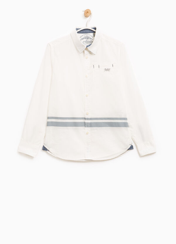 100% cotton shirt with embroidery | OVS