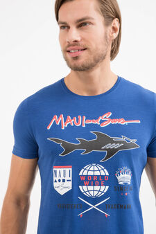 100% cotton T-shirt with Maui and Sons print, Royal Blue, hi-res