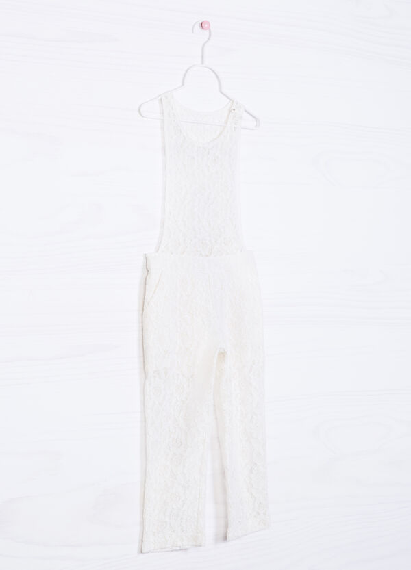 Solid colour lace playsuit | OVS