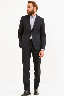 Elegant, custom-fit viscose suit, Black, hi-res