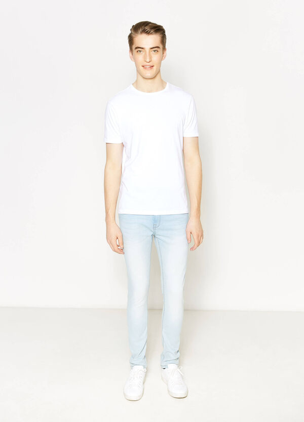 Jeans super skinny fit con scoloriture | OVS