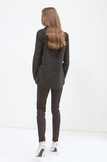 Patterned shirt in 100% cotton, Black, hi-res