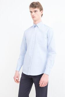 Regular-fit shirt with button down collar, Light Blue, hi-res