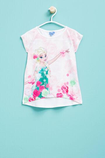Camiseta elástica con estampado grande de Frozen, Blanco, hi-res