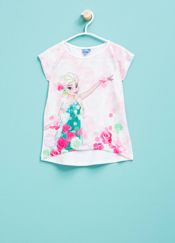 T-shirt stretch con maxi stampa Frozen | OVS