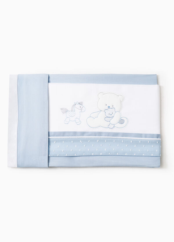 Cotton sheet with animals patch | OVS