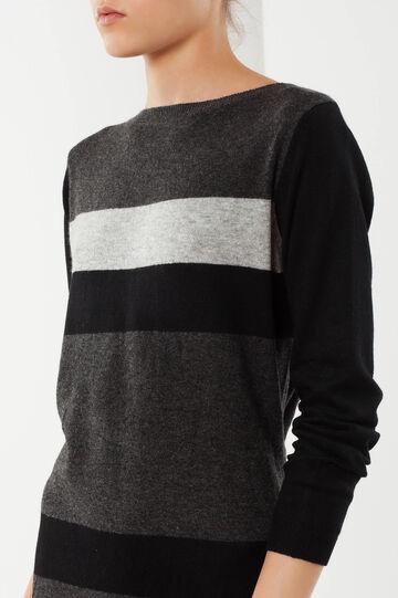 Knit dress, Black/Grey, hi-res