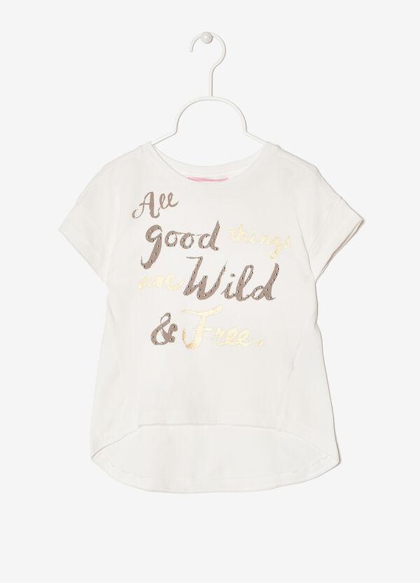 T-shirt with asymmetrical hem. | OVS