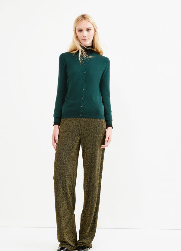 Solid colour wool blend cardigan | OVS