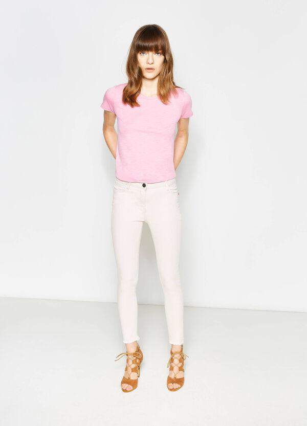 Pantaloni crop in cotone stretch | OVS