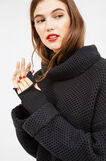 Chunky knit pullover with high neck, Black, hi-res