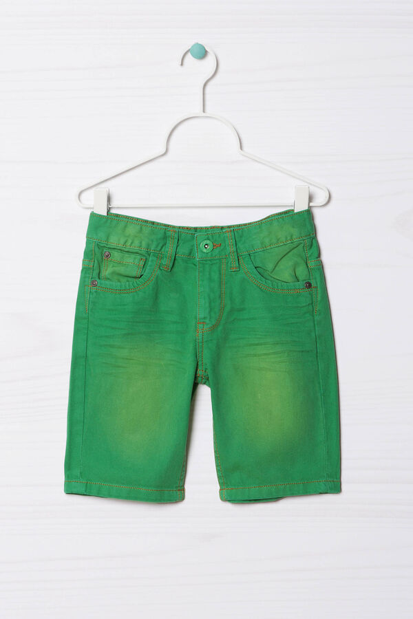 Five-pocket solid colour Bermuda shorts | OVS