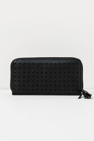 Openwork wallet, Black, hi-res