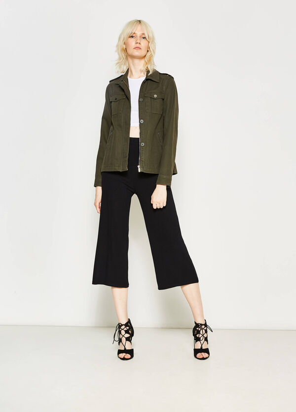 Ribbed crop trousers | OVS