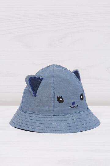 Cappello da pescatore con ricami gatto