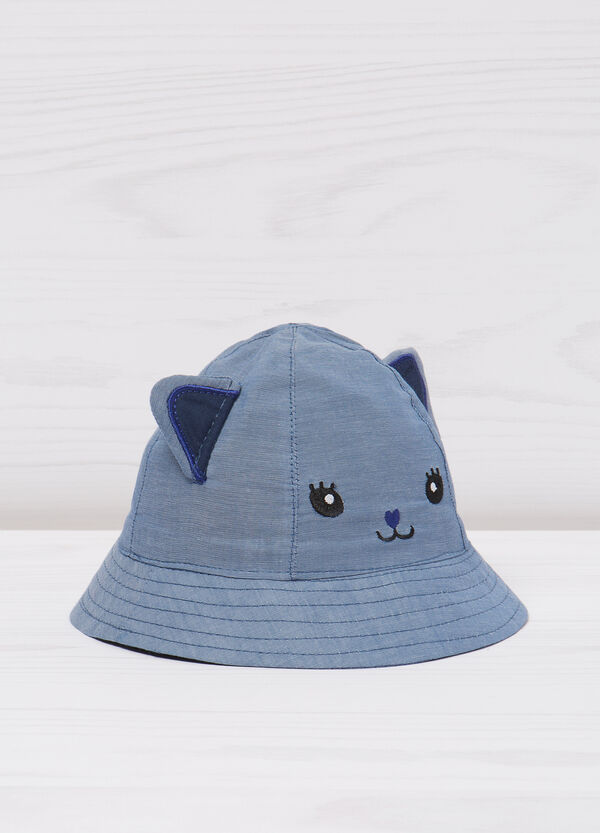 Fishing hat with cat embroidery | OVS
