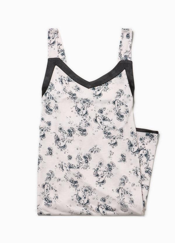 Patterned stretch cotton nightshirt | OVS