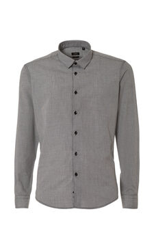 Checked shirt, White/Black, hi-res