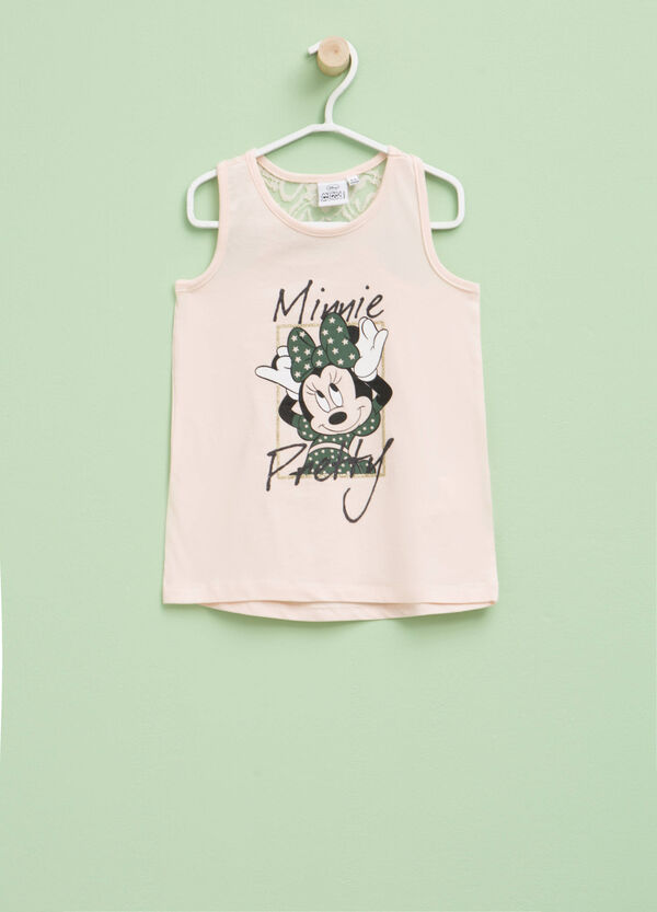 Top with glitter Minnie Mouse print | OVS