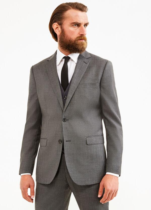Elegant, regular-fit suit in wool blend   OVS