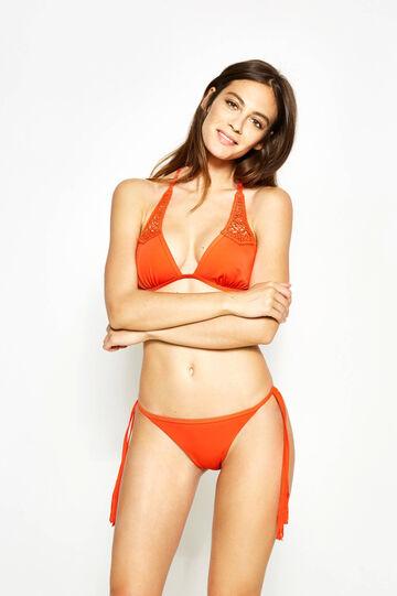 Triangle bikini bra with lace
