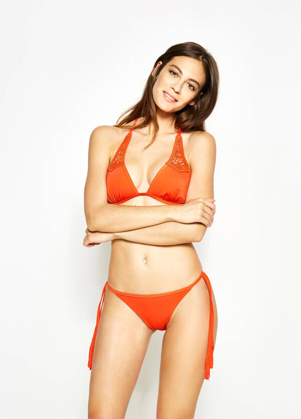 Triangle bikini bra with lace | OVS